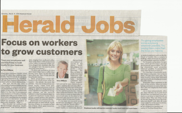 Herald Jobs Article Terry Williams The Brain-Based Boss 09March2013