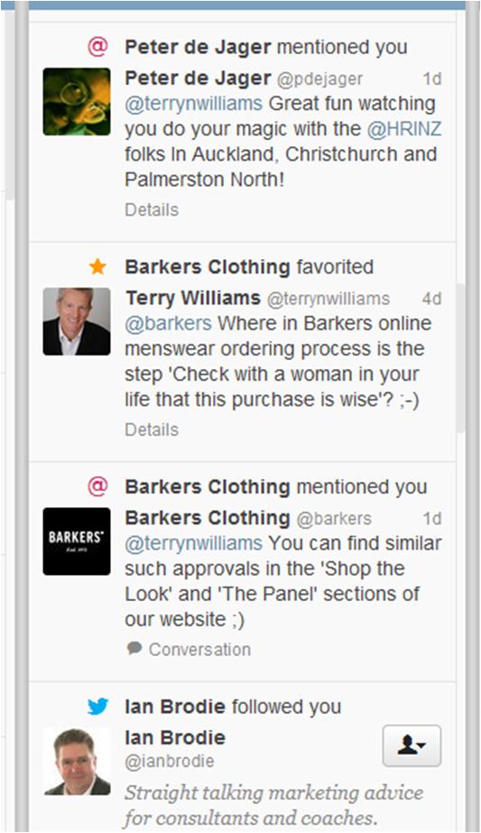 Barkers Tweets