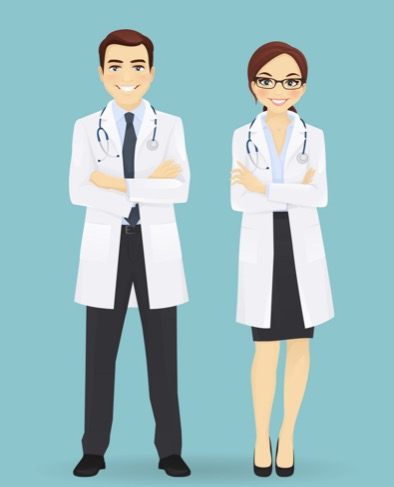 male-and-female-doctors-isolated-vector-8427105